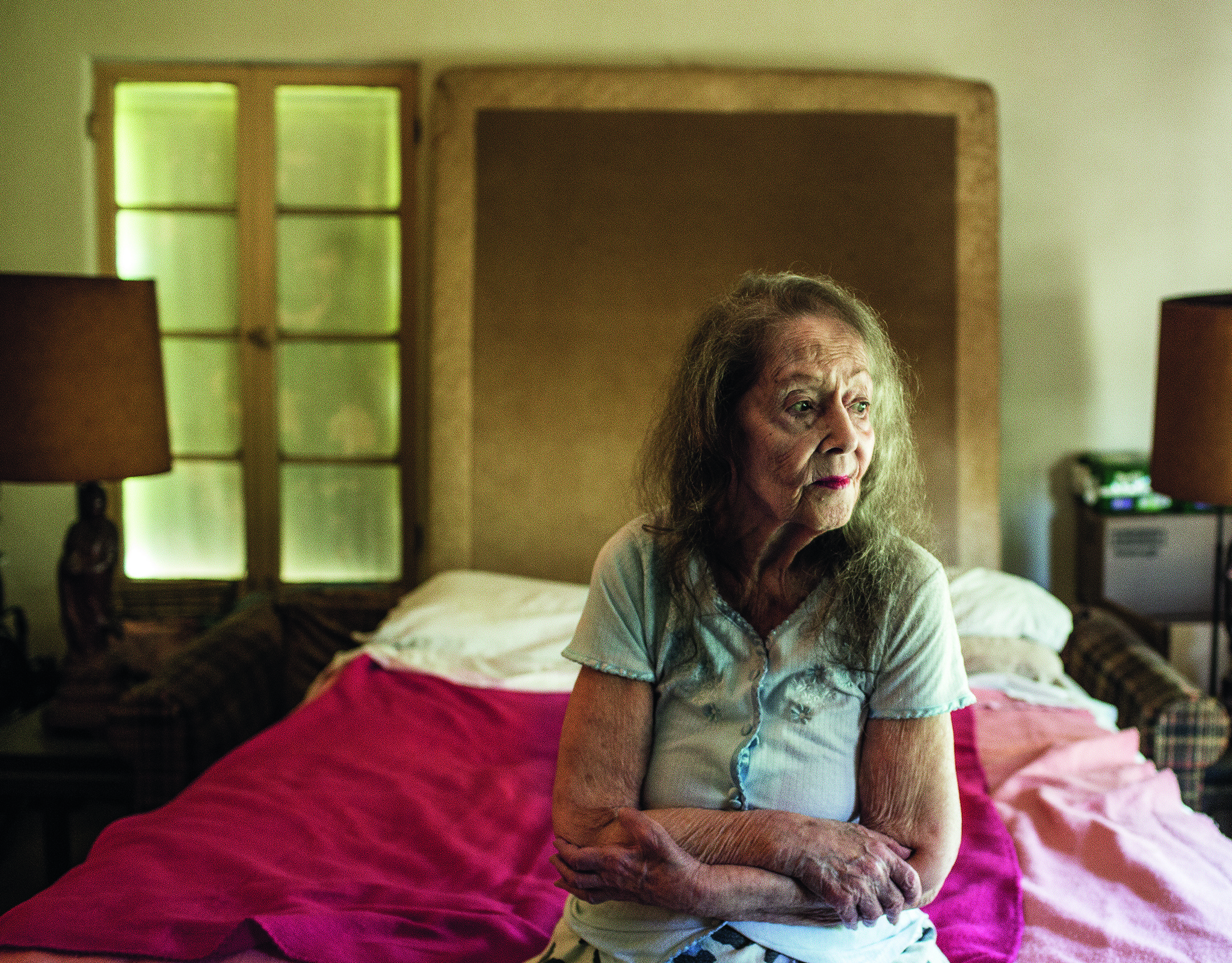 Frances, a former dance instructor, has lived in the building for 43 years.