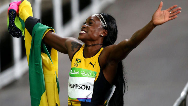 She's the fastest woman in the world, or at least in Rio ...