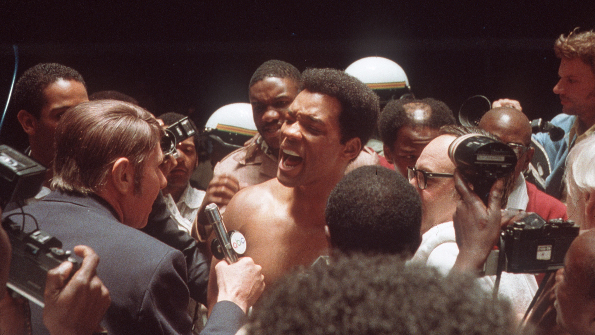 Will Smith, center, as Muhammad Ali in