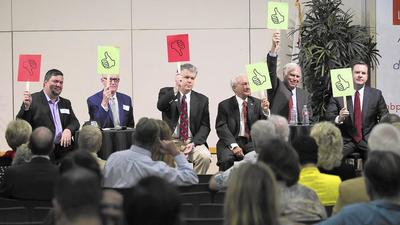 Newport council candidates weigh in on development, pensions and more at forum