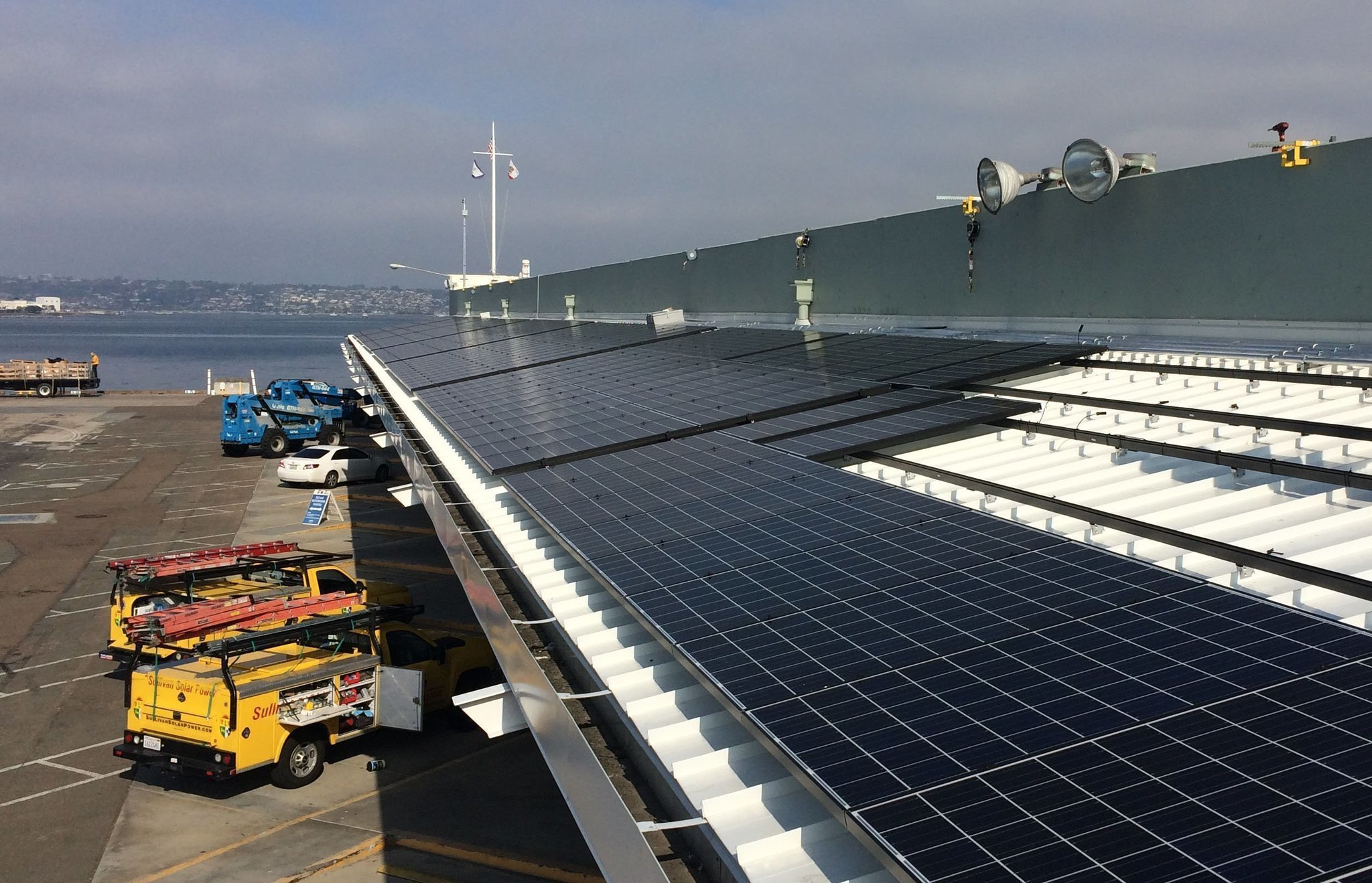 Port Of San Diego Installs Big Rooftop Solar System The