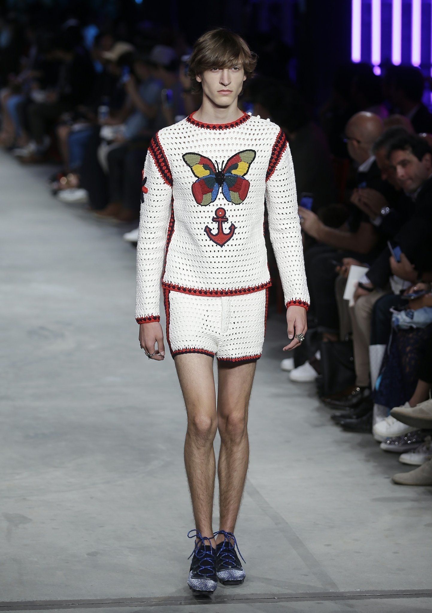 gucci s new designer serves up lace and ruffles for