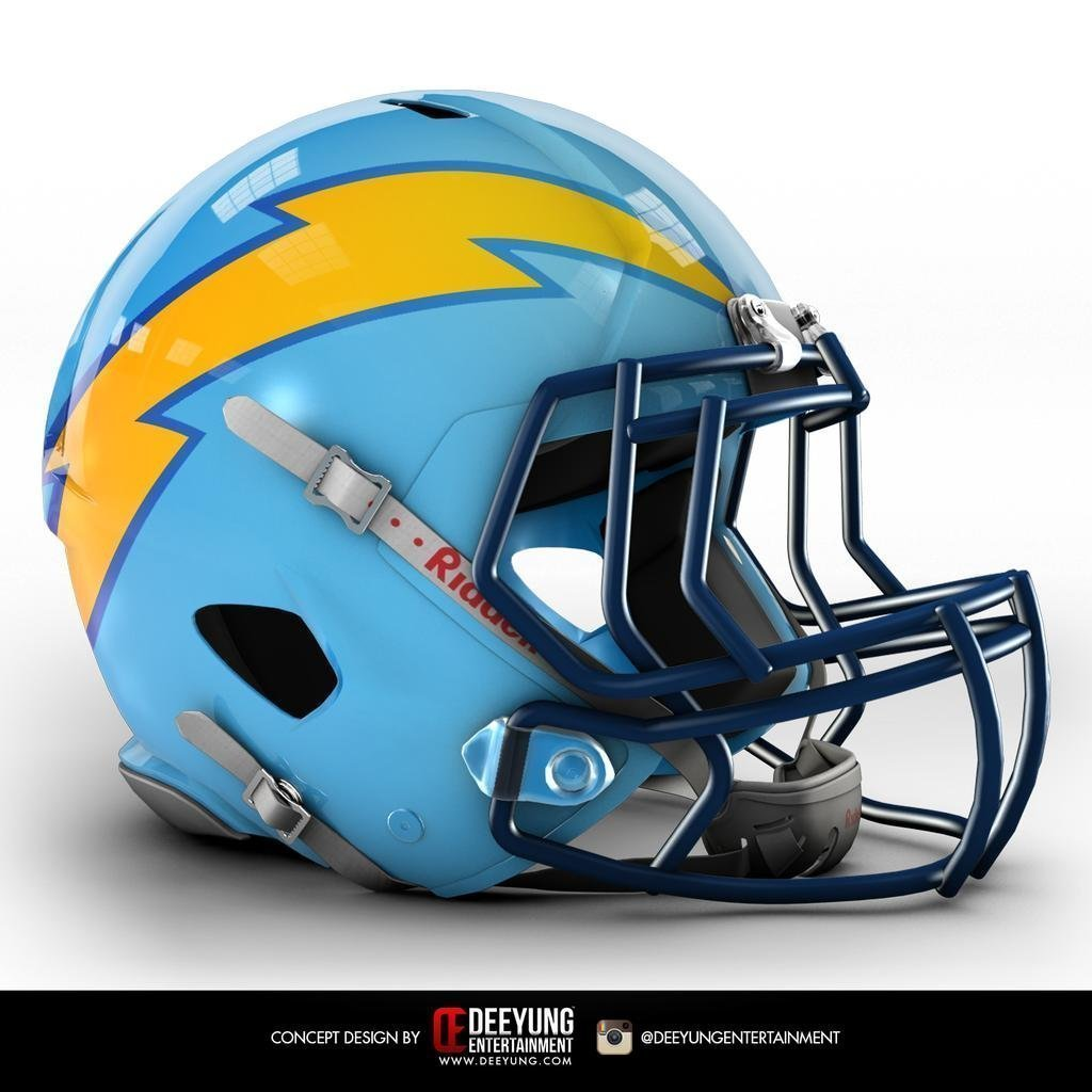 San Diego Chargers Football Helmet: How's This For A New Chargers Helmet?