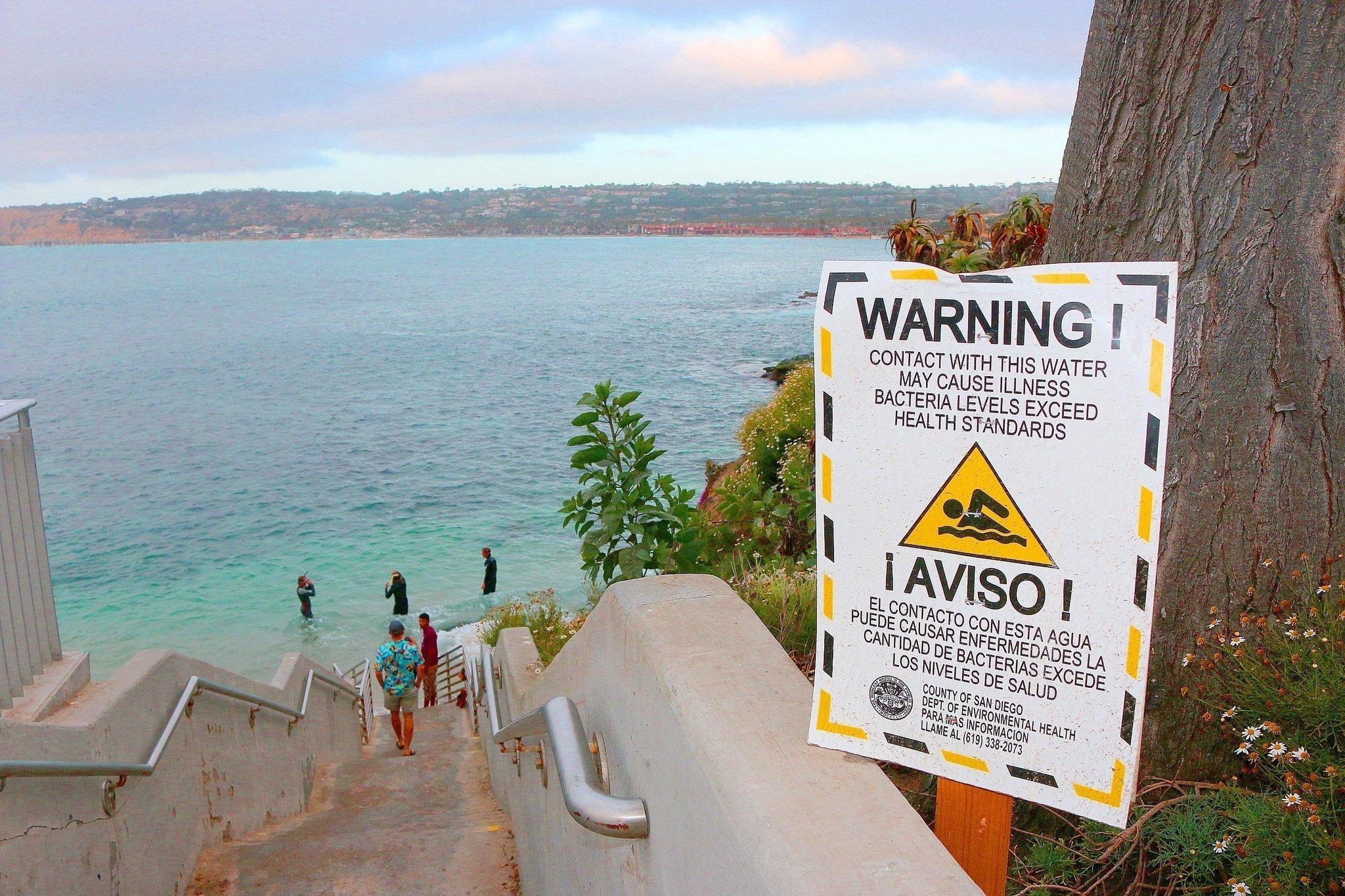 San Diego Health Department >> It's swim at your own risk at La Jolla Cove - La Jolla Light