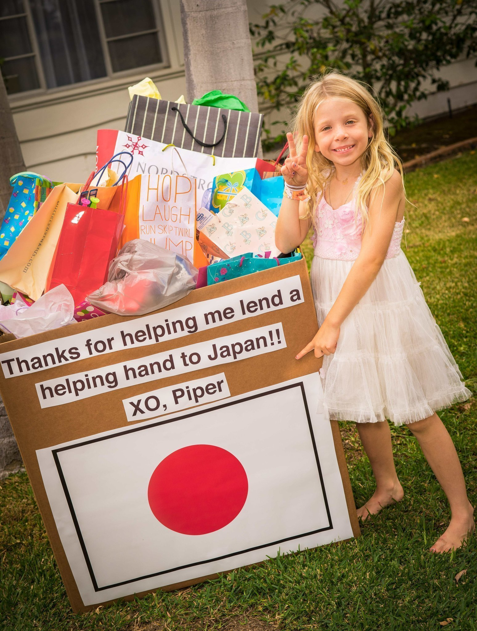 La Jollan Sends Her Birthday Gifts To Japan For Children In Need