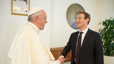 Mark Zuckerberg meets with Pope Francis