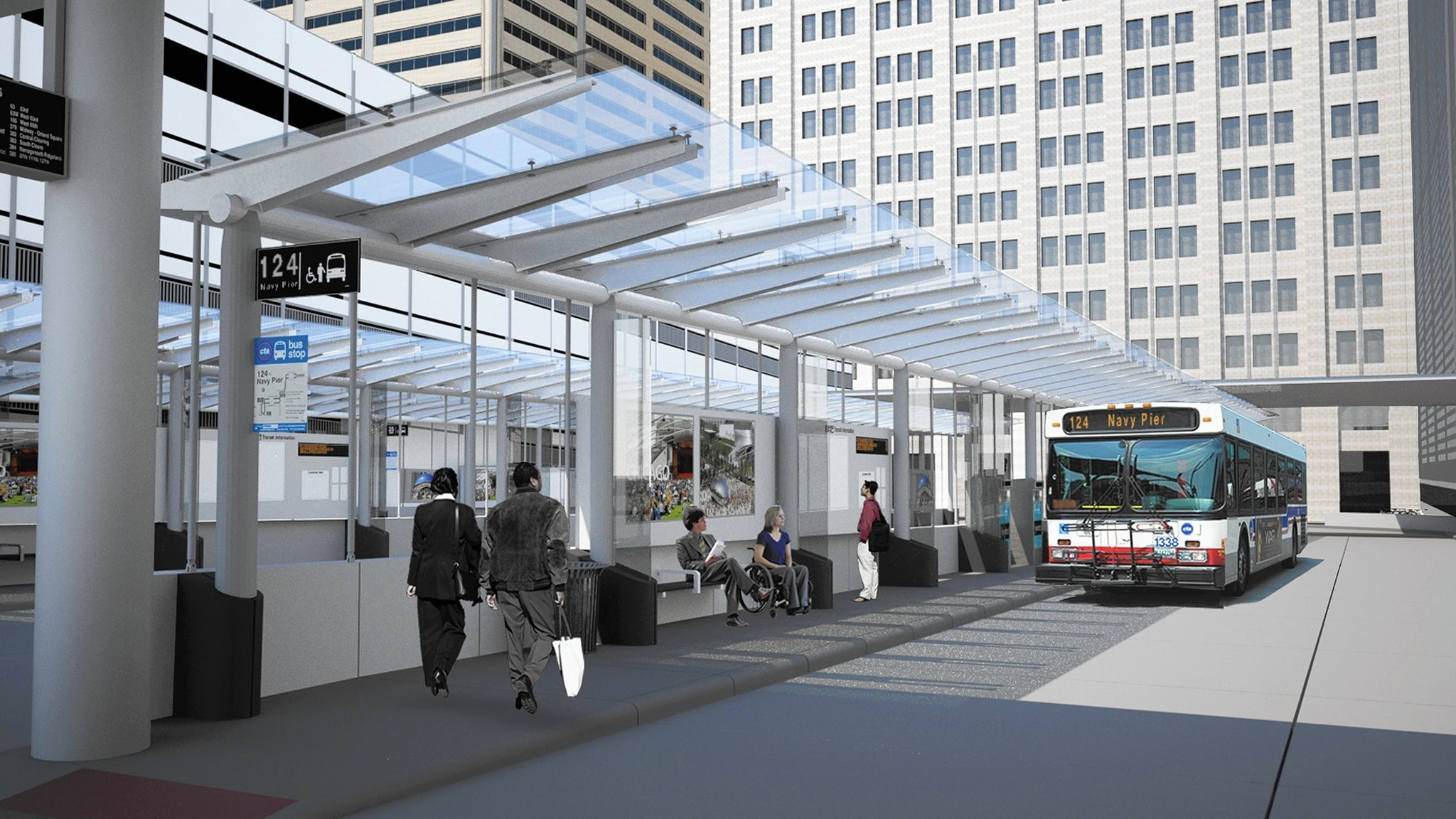 union station transit center for cta buses to open sunday. Black Bedroom Furniture Sets. Home Design Ideas