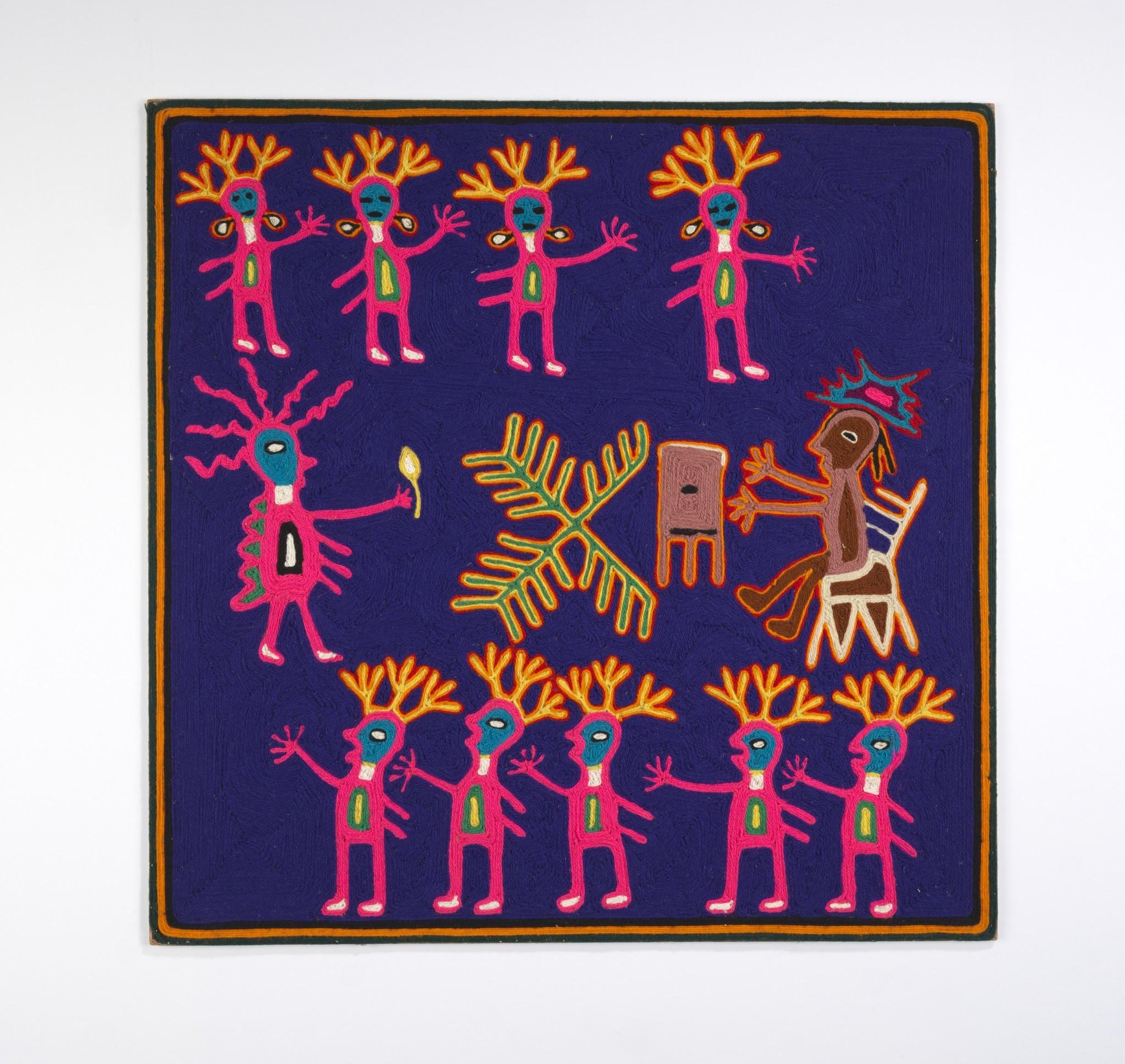 Untitled by Ramon Medina Silva, mid-1960s. Yarn, beeswax, composition board.