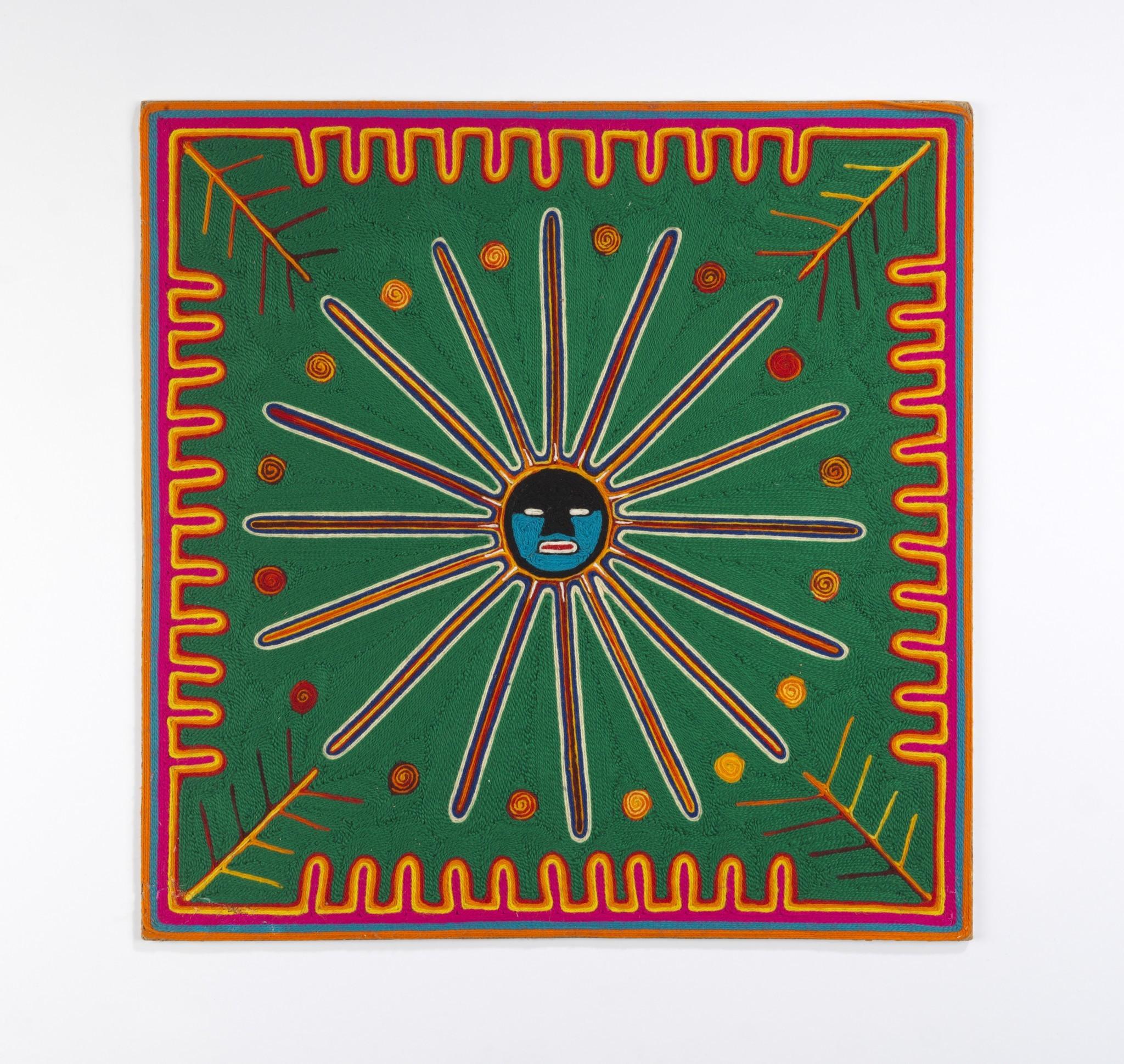 Untitled work by Ramon Medina Silva, mid-1960s. Yarn, beeswax, composition board.