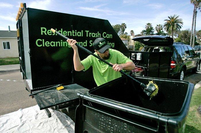 Trash Bin Cleaning Service Gaining Customers The San