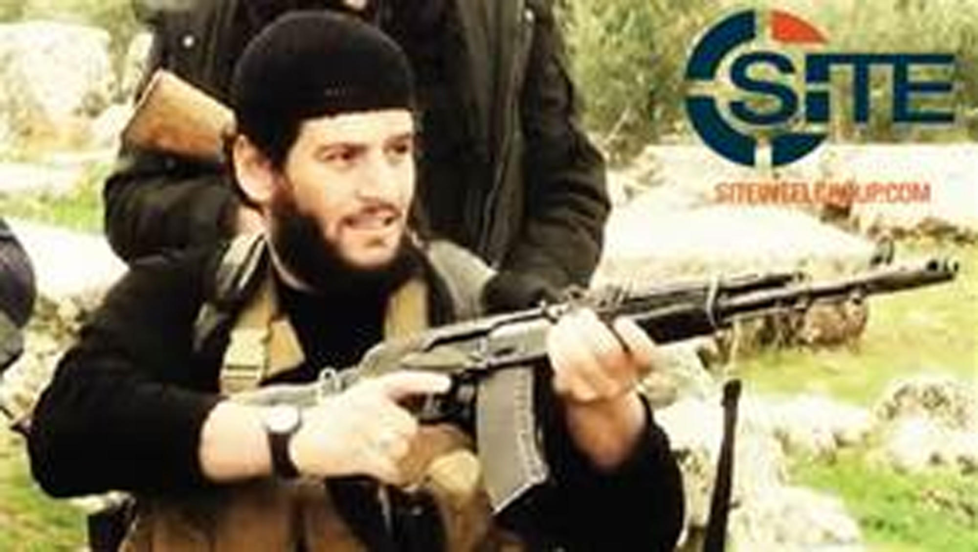 Adnani, the Islamic State militant group's spokesman, is shown in this undated image provided by SITE Intelligence Group.