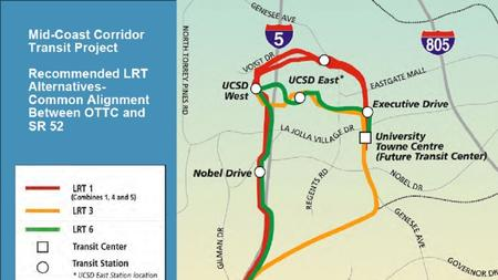 Trolley San Diego Map.Trolley Extension To Ucsd Focus Of Meetings The San Diego Union