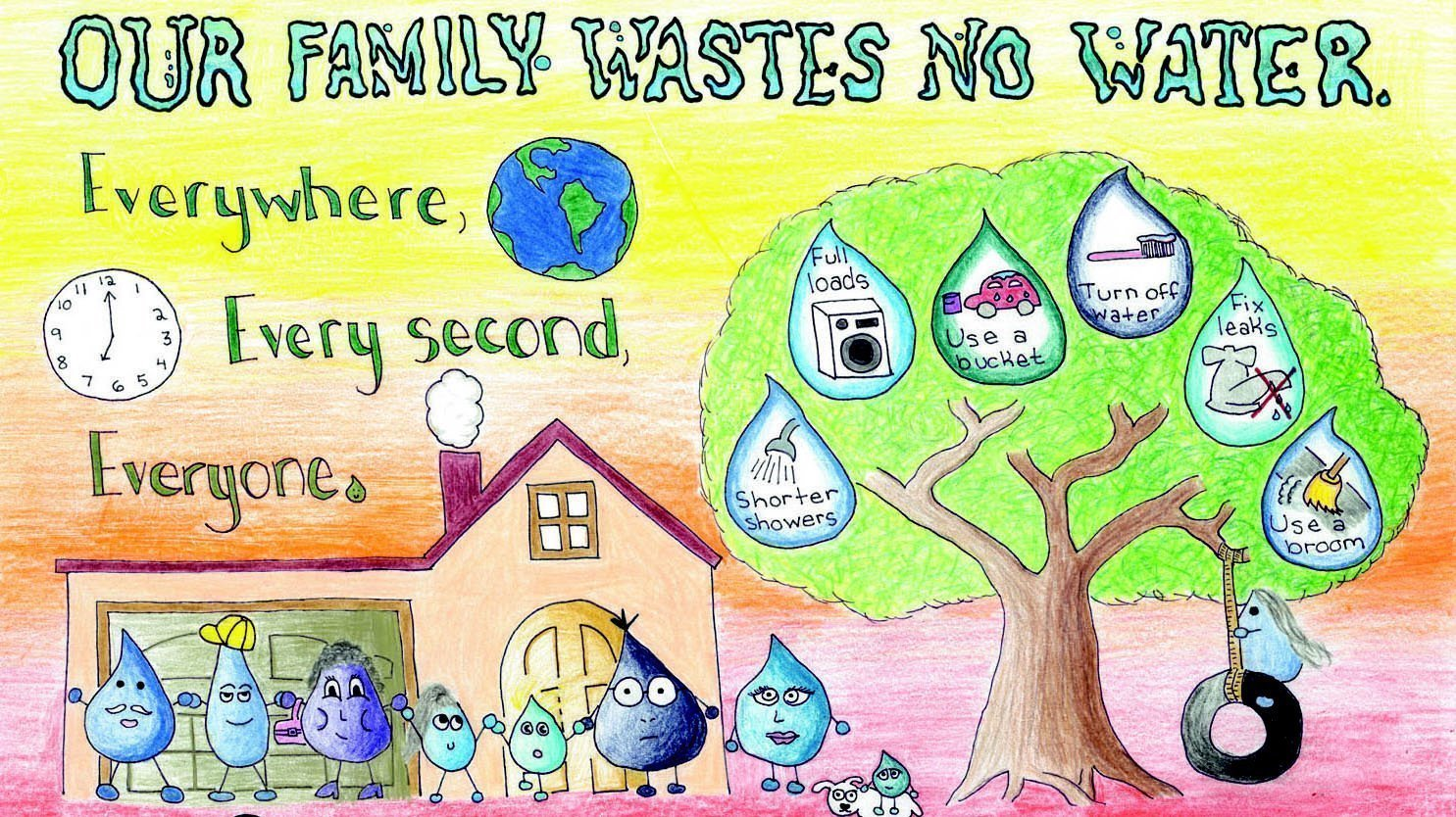 La Jolla Sixth Grader Takes First Place In Water Conservation Art
