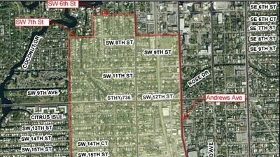 Fort Lauderdale spray boundary map