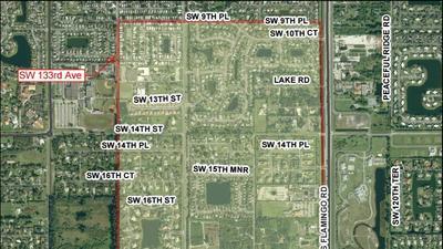 Davie spray boundary map