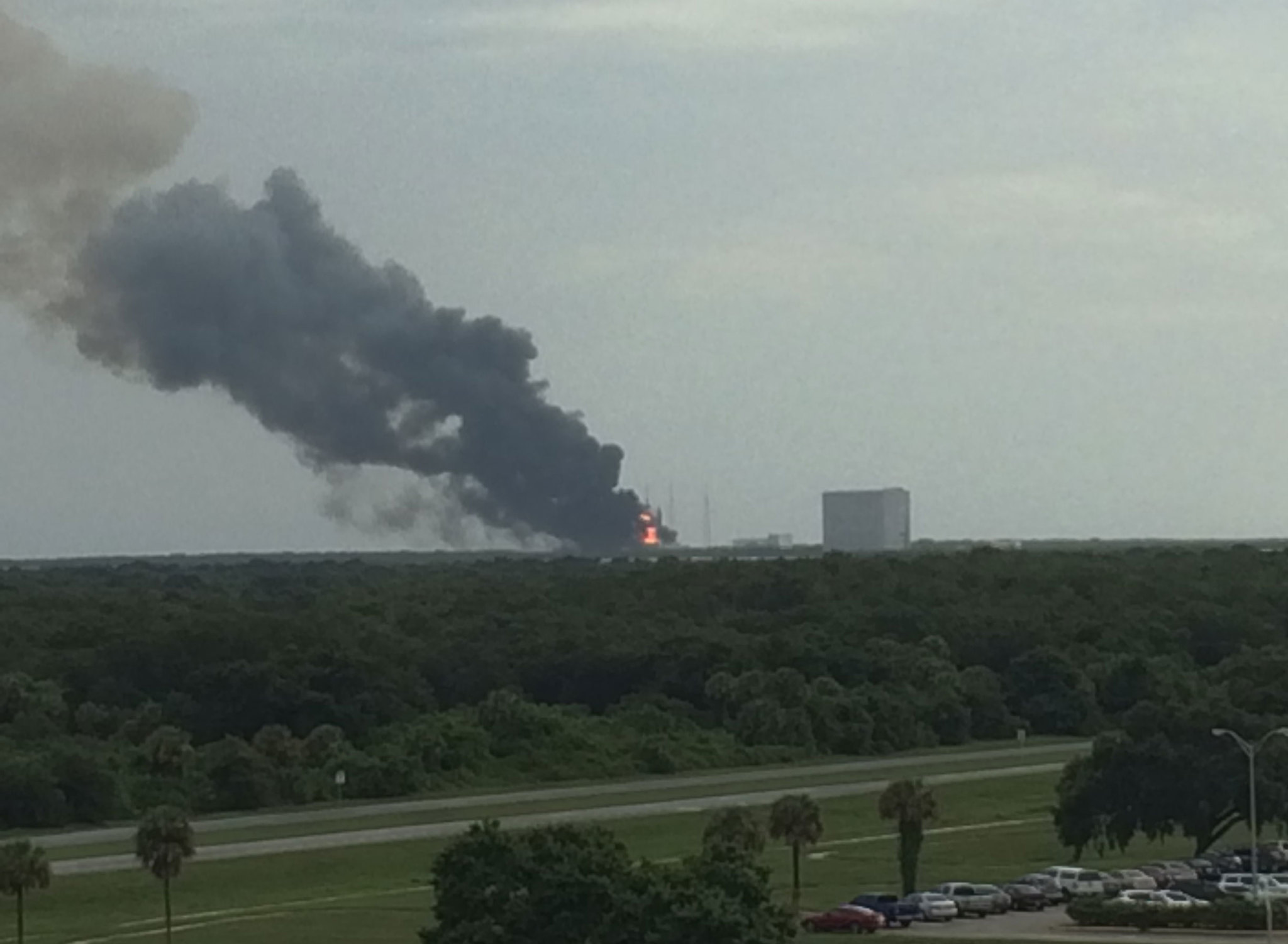 SpaceX explosion destroys rocket, satellite at Cape ...
