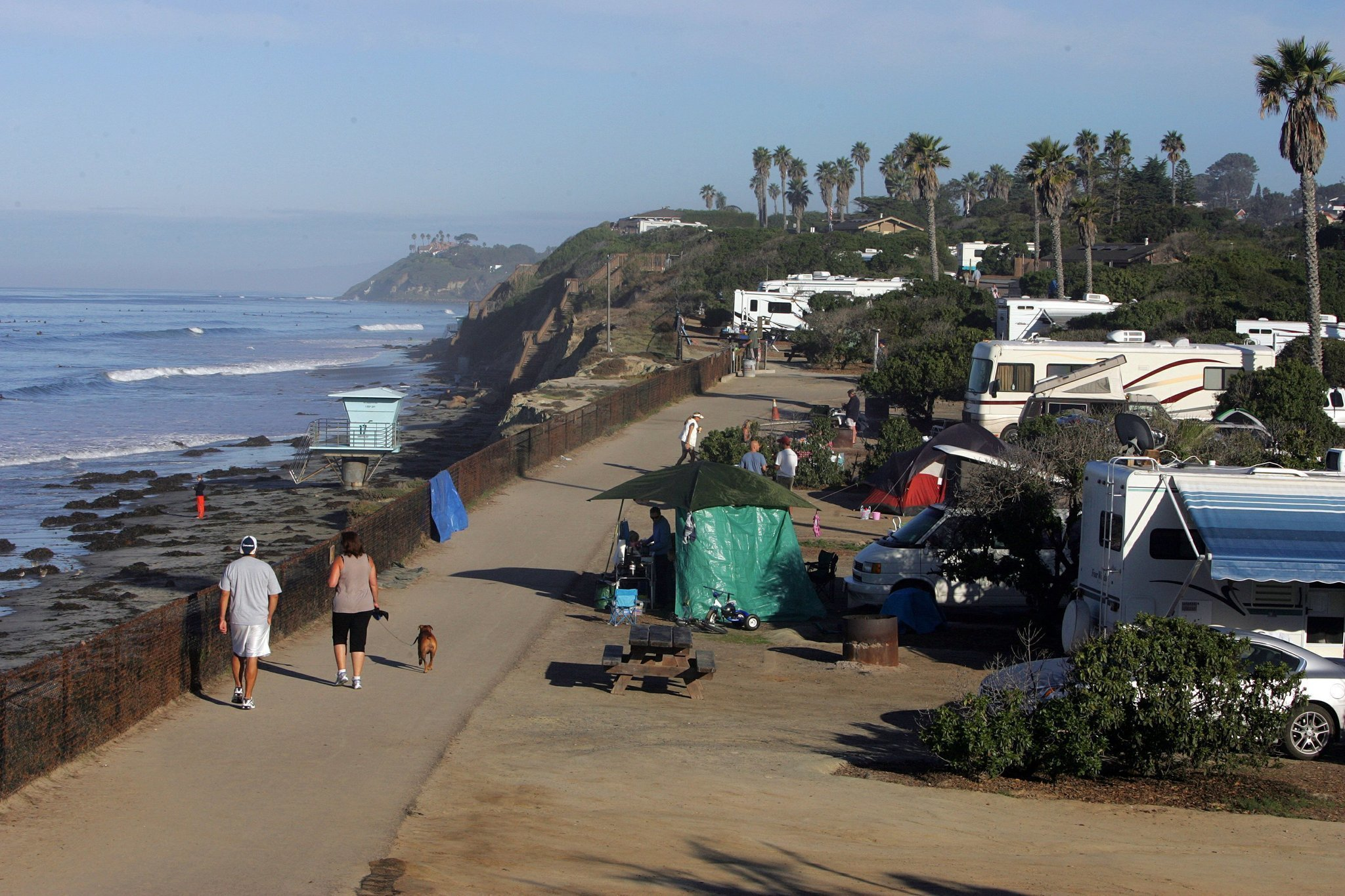 Winter Can Be The Hot Time For Camping At Beach San Go Union Tribune