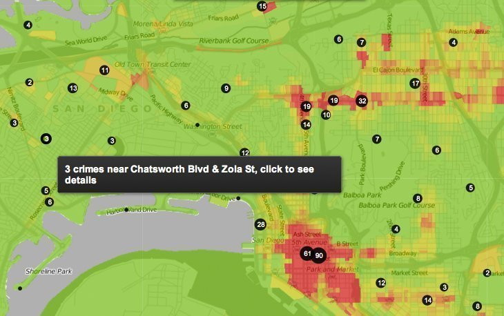 New map helps renters, owners spot crime - The San Diego Union-Tribune