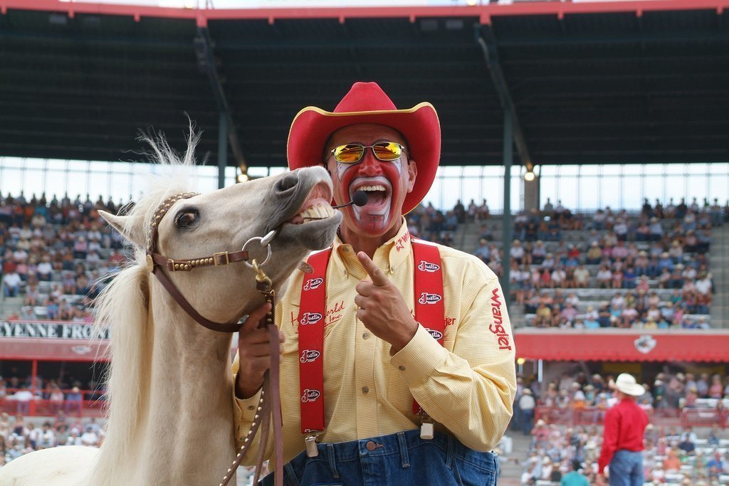 These Guys Clown Around At The Rodeo The San Diego Union