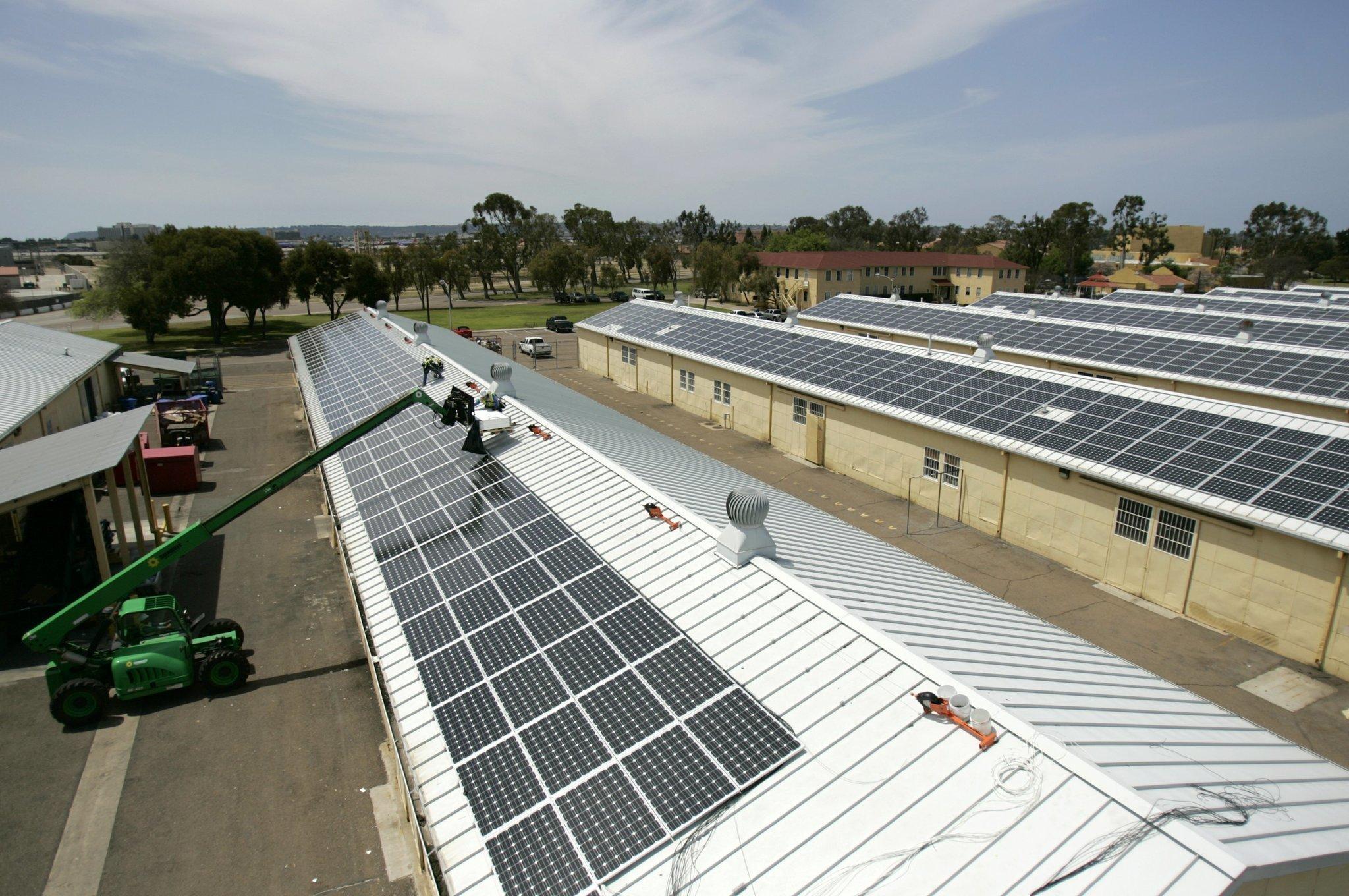 Camp Pendleton Goes Solar The San Diego Union Tribune