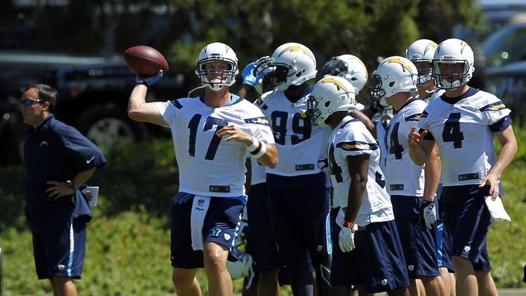 63b76131417 Philip Rivers under spotlight at camp. Chargers