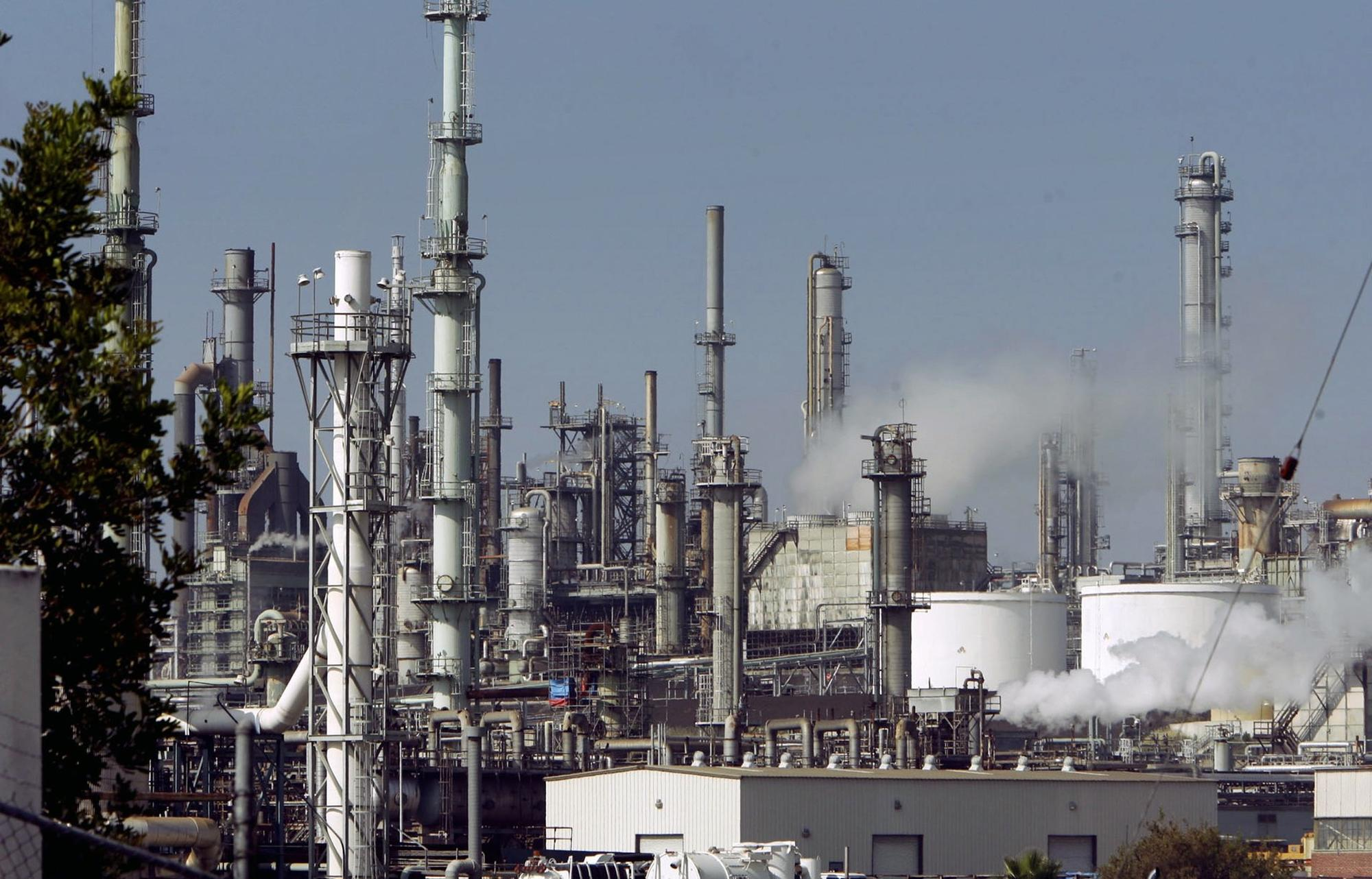 FILE - This July 6, 2006 file photo shows the ConocoPhillips Los Angeles Refinery in operation. The Environmental Protection Agency is coming to one of the nation's largest petro