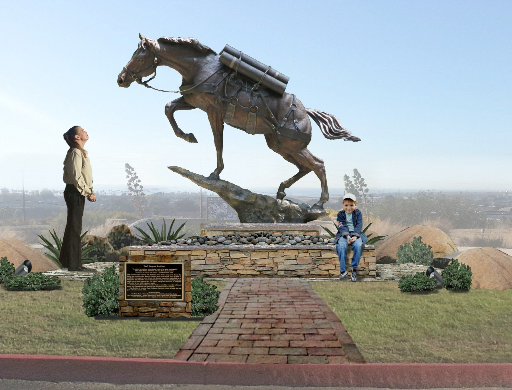 Statue of heroic war horse to go up at Pendleton - The San Diego  Union-Tribune