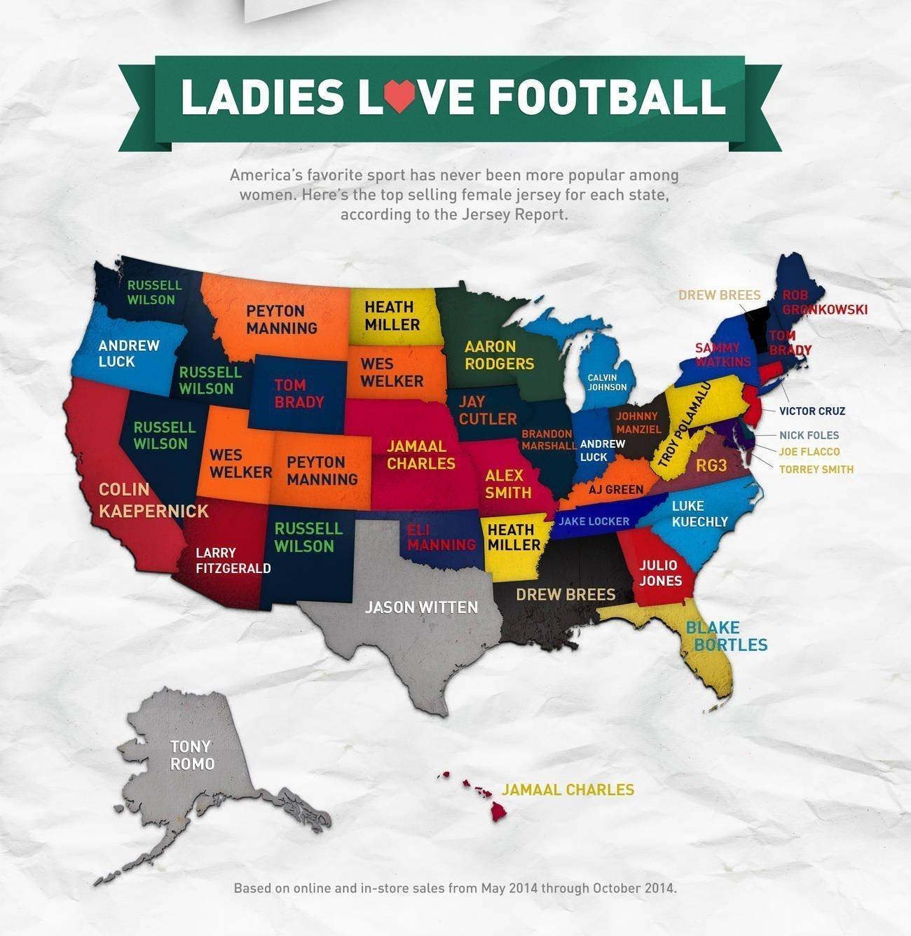 Most popular women s NFL jersey in California  - The San Diego Union-Tribune 564b357774