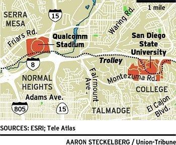 Qualcomm Stadium Site In Sdsu S Sights The San Diego Union Tribune