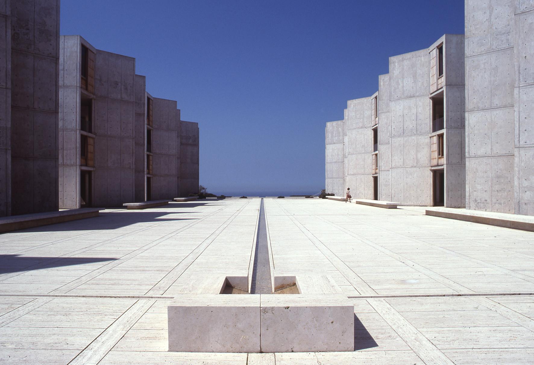 Louis Khan's Salk Institute in La Jolla, Calif.