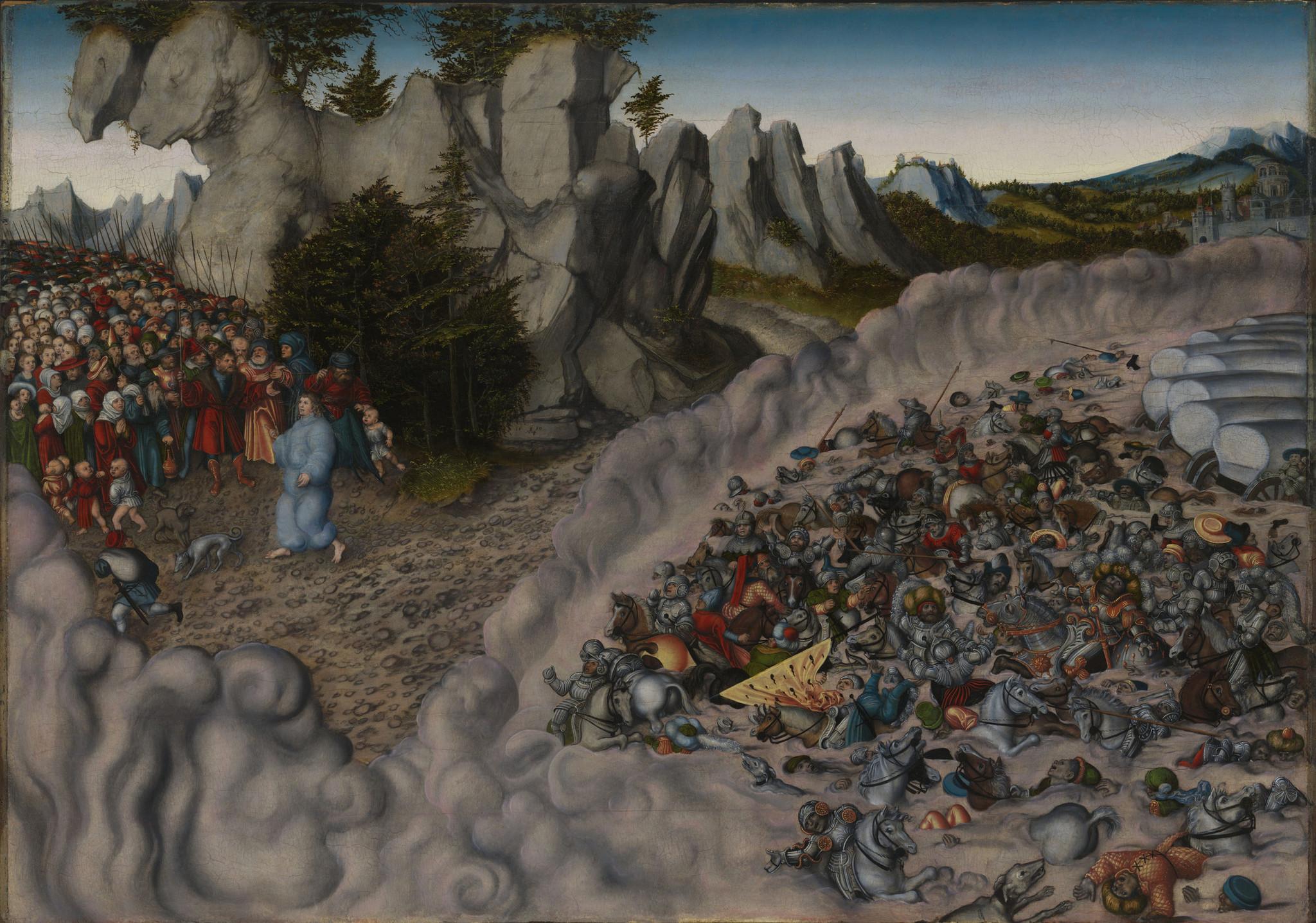 "Lucas Cranach the Elder' ""The Passage of the Israelites through the Red Sea,"" 1530."
