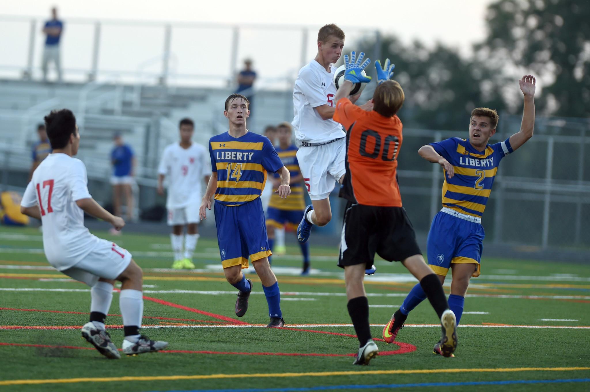 Oneto hat trick pushes Liberty boys soccer past Centennial ...