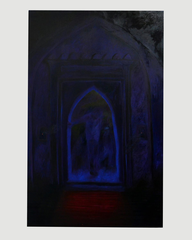 "Srijon Chowdhury's ""Dad entering my great great grandfather Asgar's mosque,"" 2016."