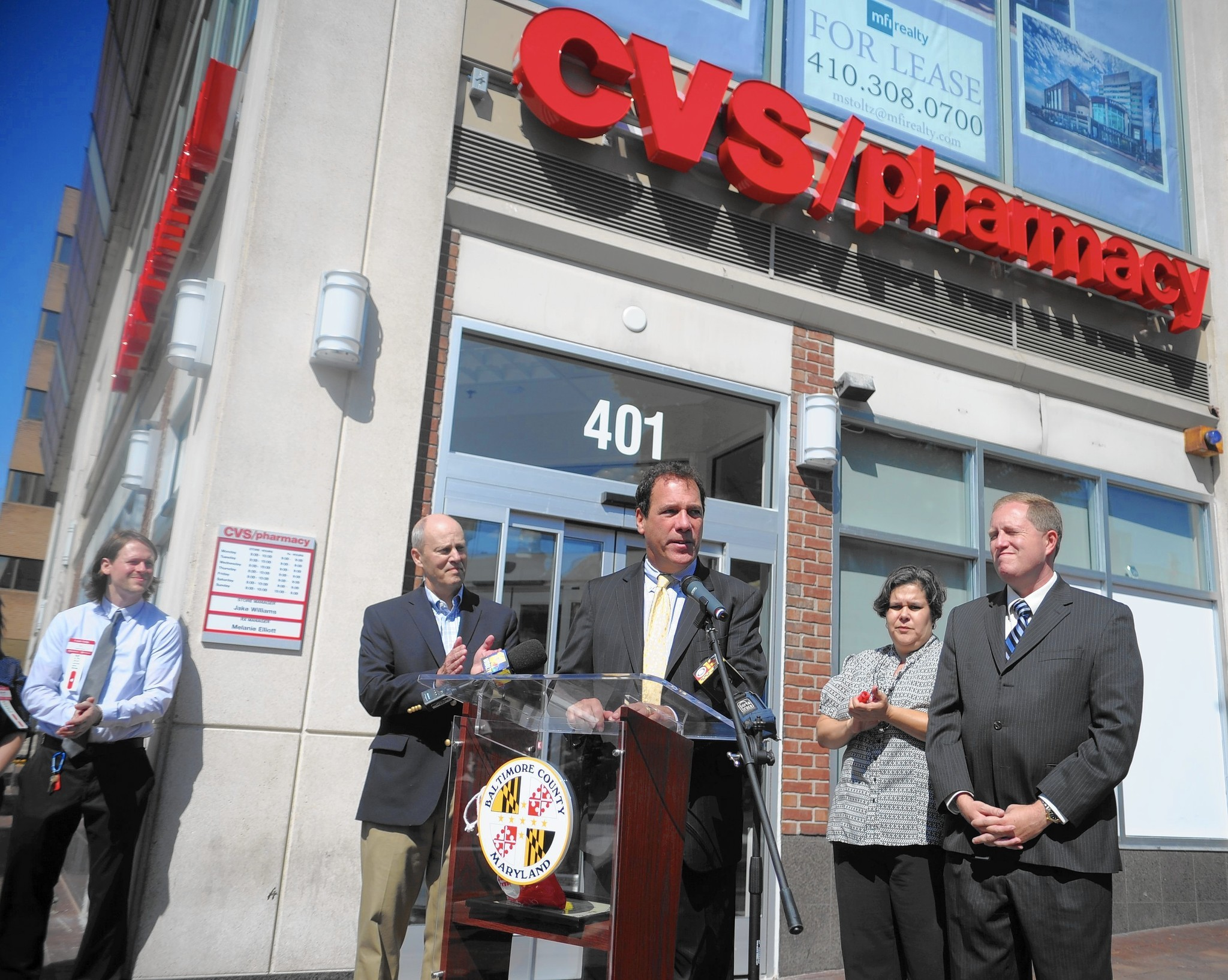 officials tout new cvs as a win for downtown towson