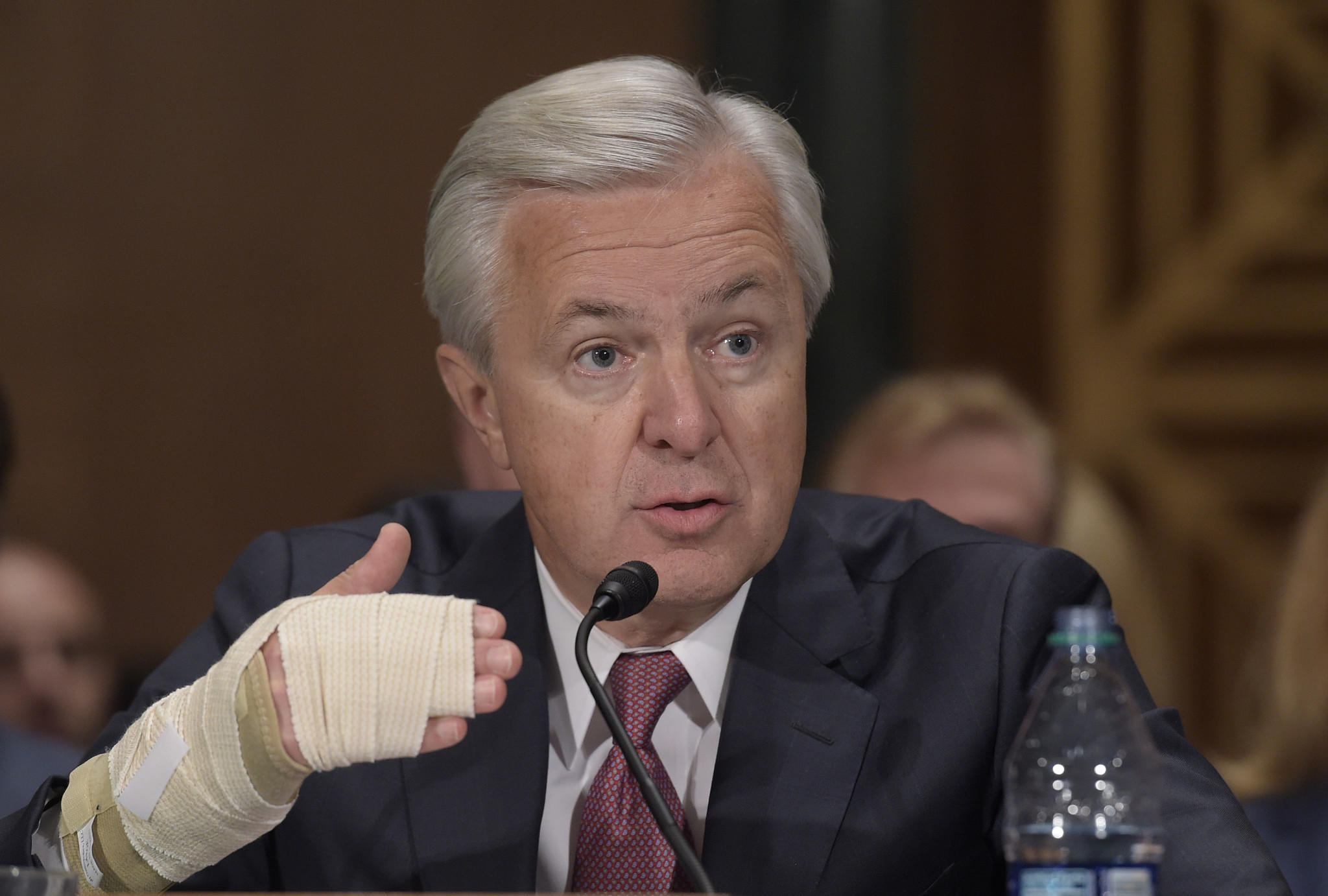 Wells Fargo CEO John Stumpf testifies last week on Capitol Hill before the Senate Banking Committee. (Susan Walsh / Associated Press)