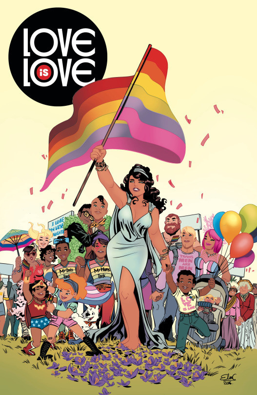 """The """"Love Is Love"""" cover by Elsa Charretier."""