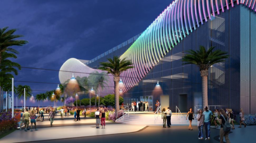 Fort Lauderdale S 21 Million Parking Garage Seen As Dramatic Gateway To The Beach Sun Sentinel