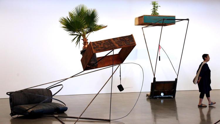 Installations by Abraham Cruzvillegas at Regen Projects.