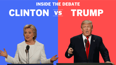Debate details of Trump and Clinton