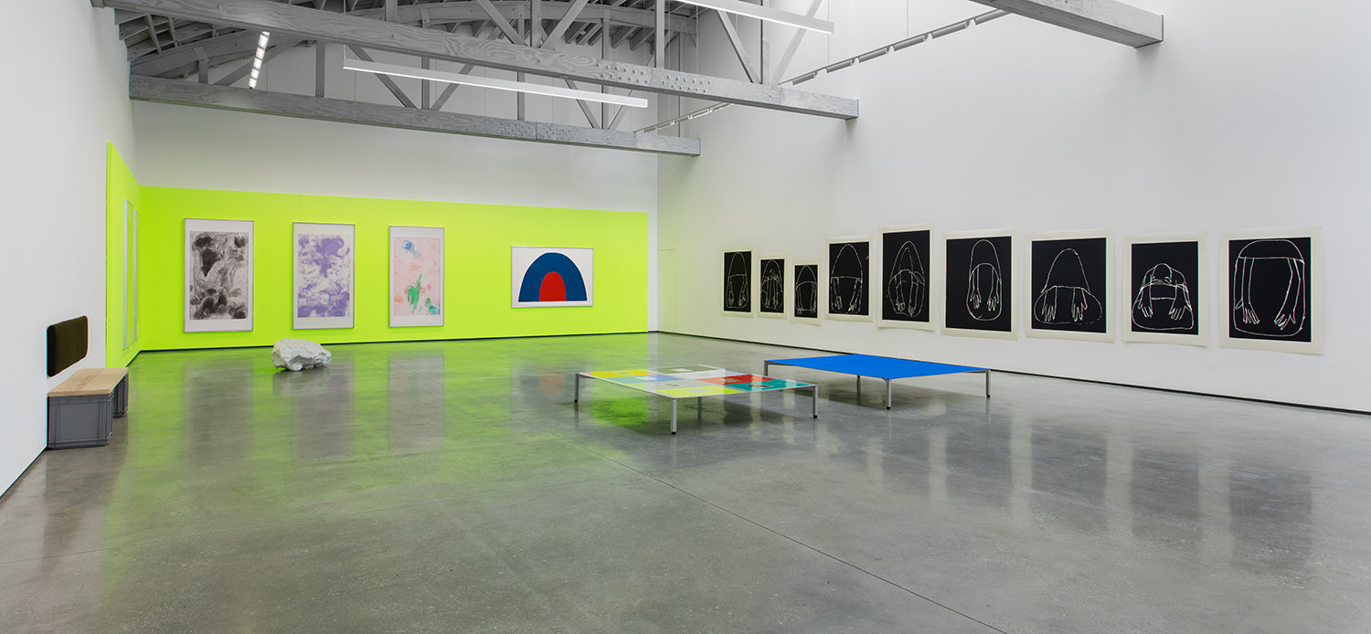 Installation view of Andrea Bttner's show at David Kordansky Gallery.