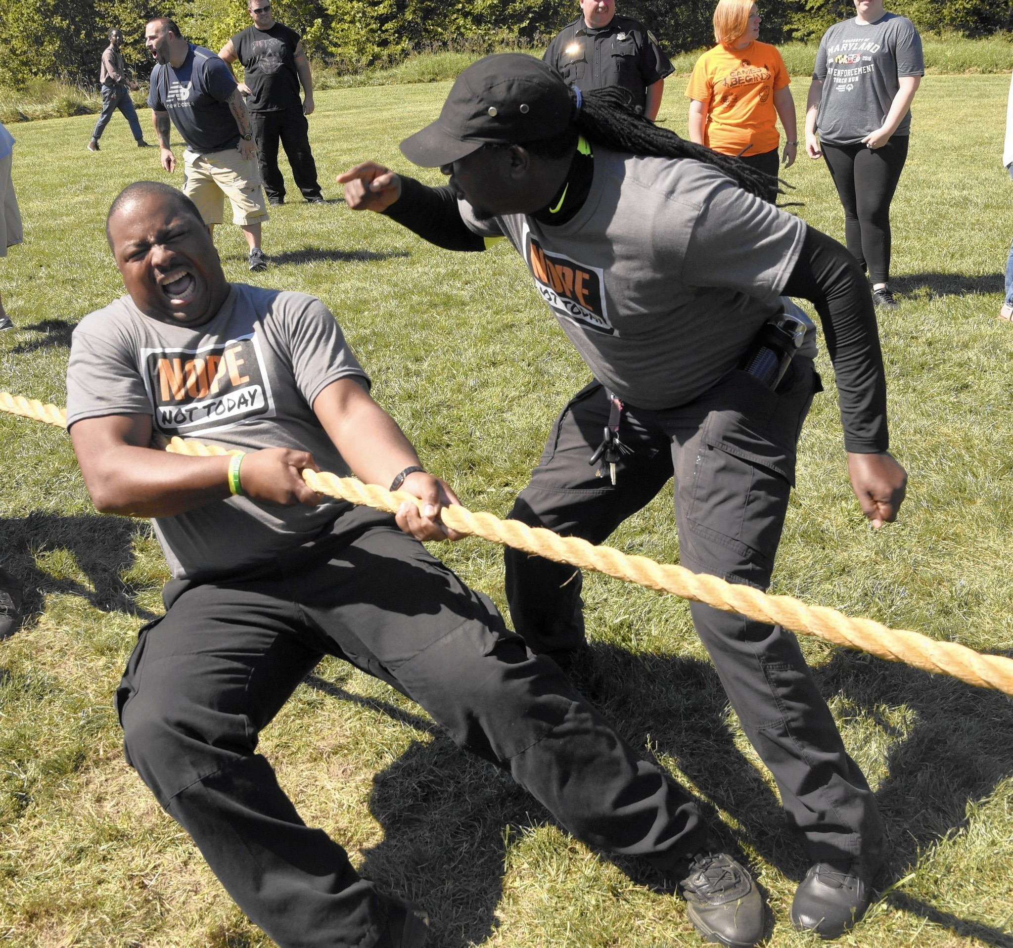 Correctional Officers Tug In Money For Special Olympics