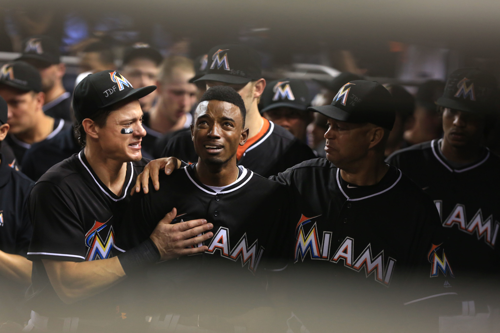 784215c62 Somber tribute to fallen Marlins pitcher made possible by Majestic s Lehigh  Valley plant - The Morning Call