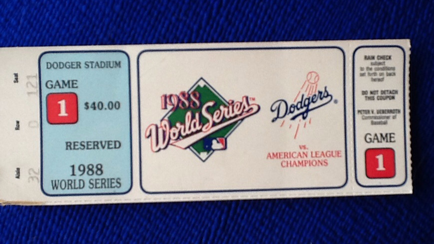 """""""Thanks to Vin's sage advice, I saved this ticket to prove I was really there."""""""