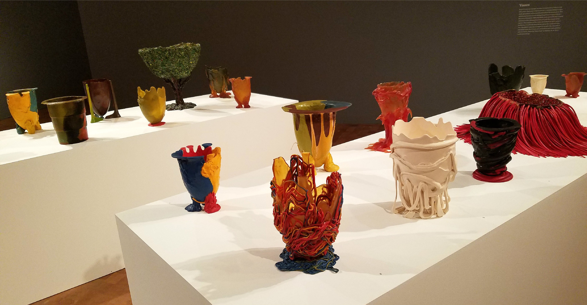 All but five of 39 vessels in MOCA's Gaetano Pesce show come from the co-curator's private collection.