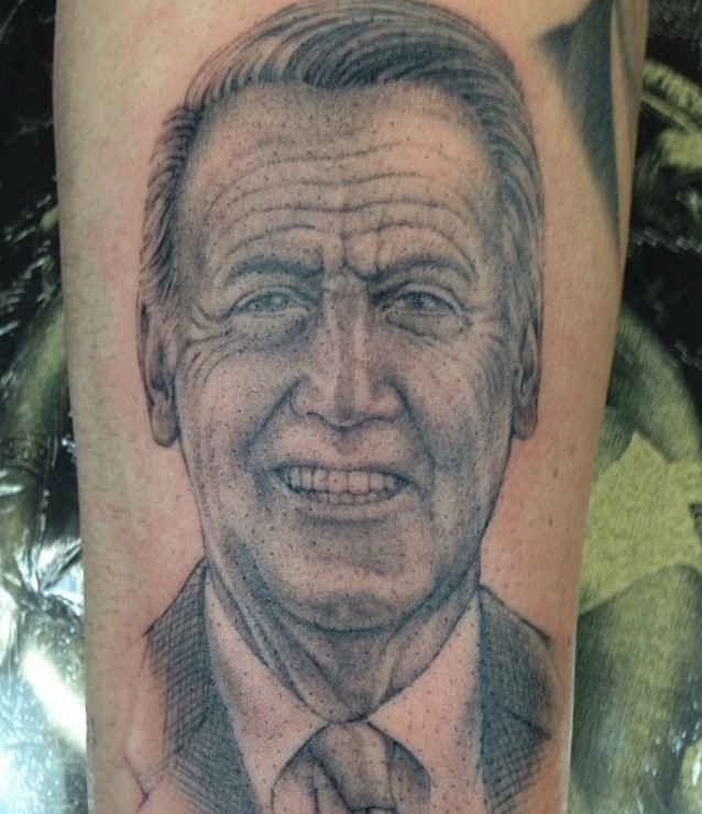 Richie Abbott has a tattooed tribute to Vin on his arm.