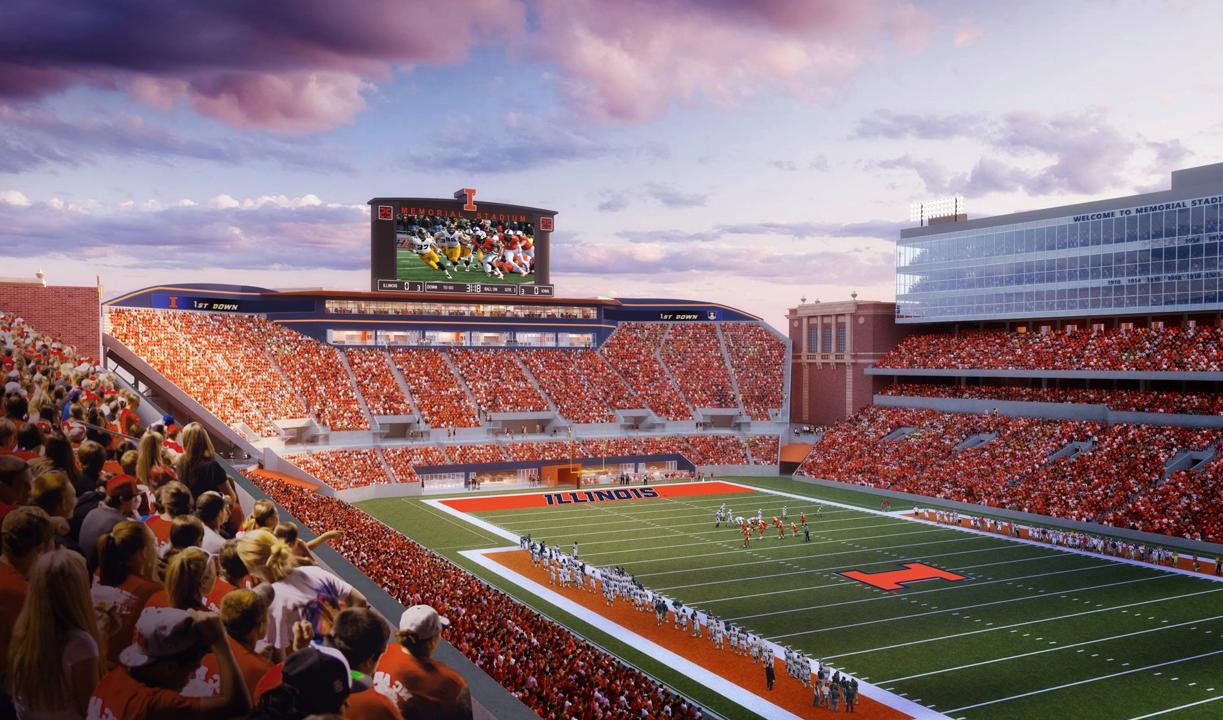 Illinois Announces 132 Million Stadium Renovation