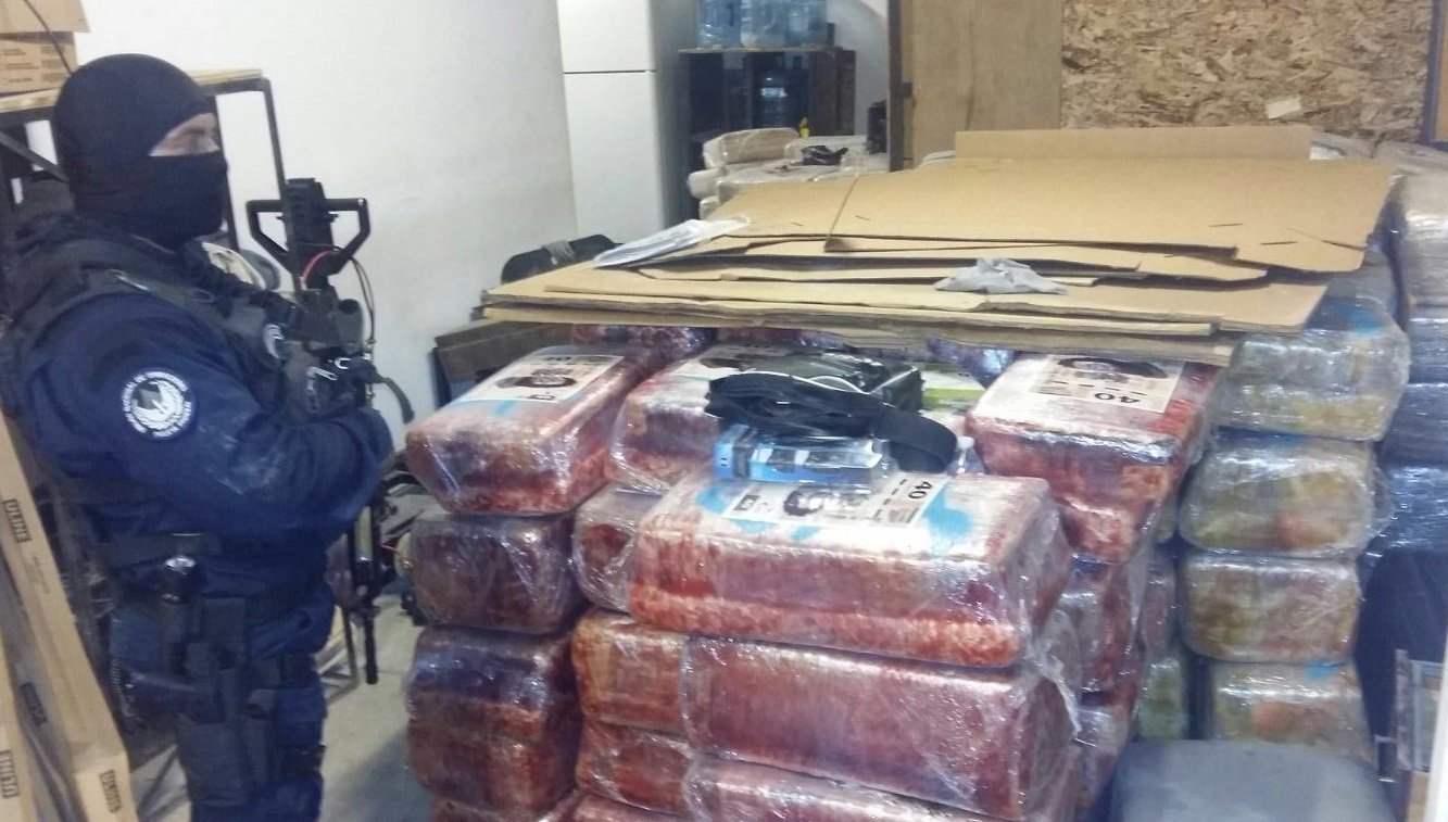 Mexican authorities seized 10 tons of marijuana in connection with a suspected drug tunnel linking Tijuana with San Diego.