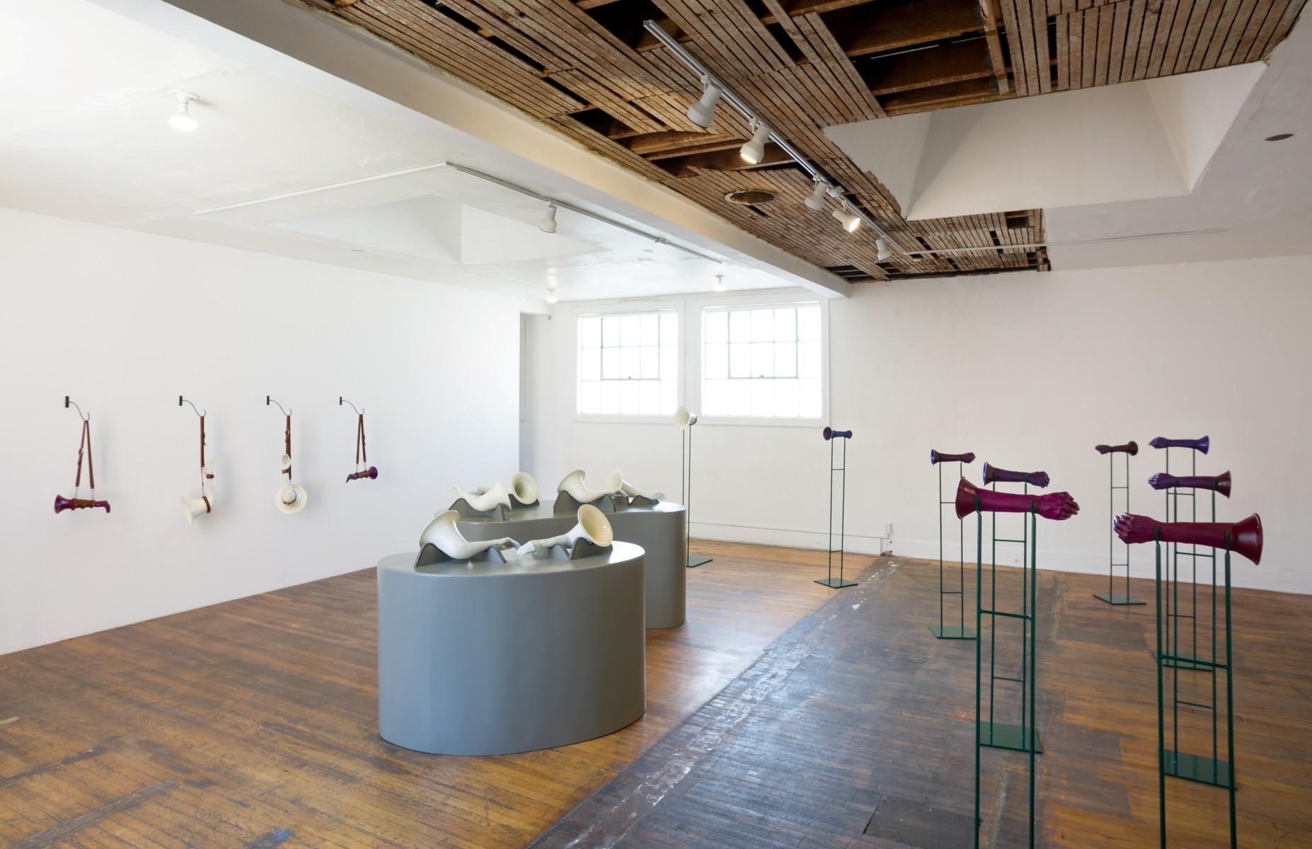 "Elana Mann's ""The Assonant Armory,"" 2016, installation view."