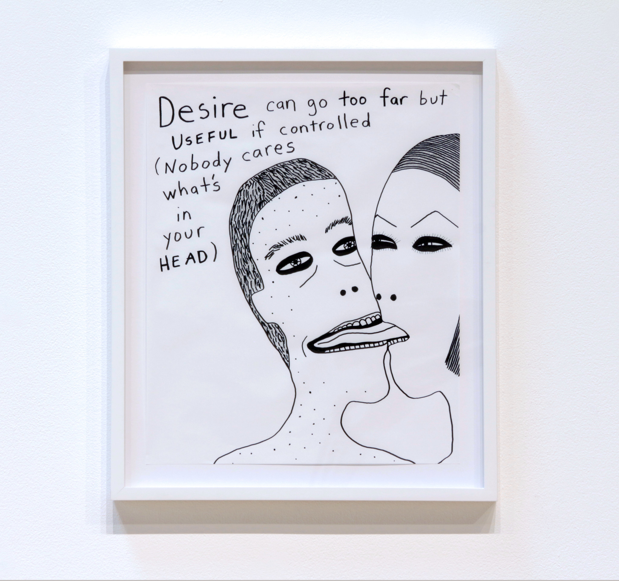 """Laylah Ali, Untitled from """"Commonplace Drawings,"""" 2016. Text by Octavia E. Butler. Credit: Paul Kasmin Gallery. Image from Armory Center for the Arts"""