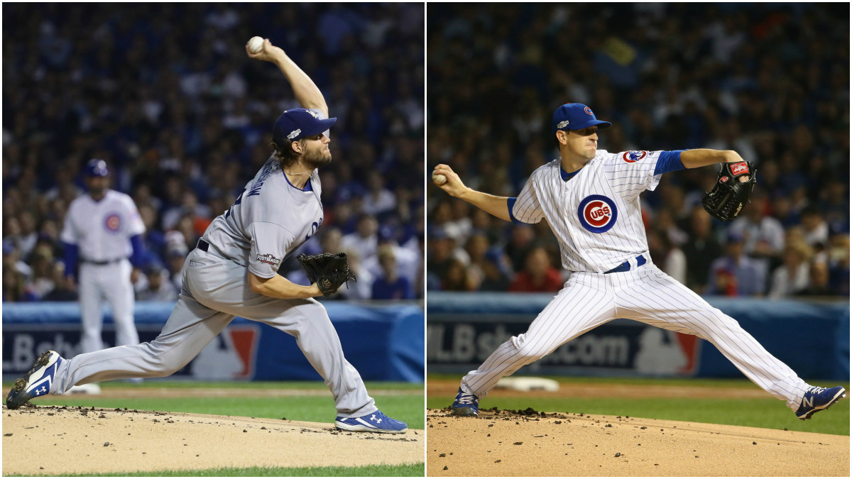 game dodgers cubs pitching nlcs clayton